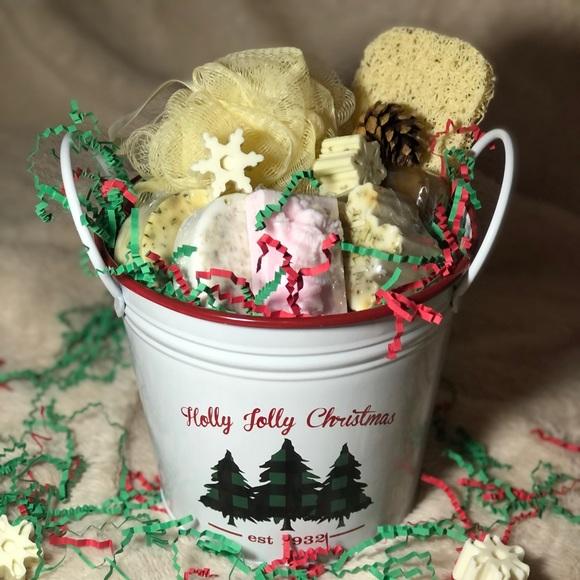 Christmas Tin Buckets - Natural Soaps